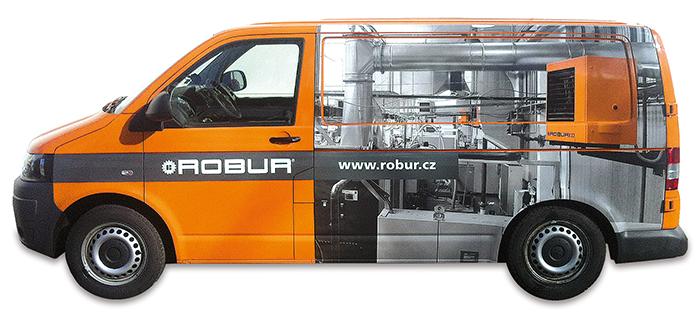 ROBUR – polep auta
